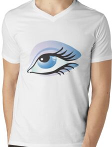 blue eye Mens V-Neck T-Shirt