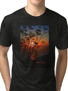 Sunset flower Tri-blend T-Shirt