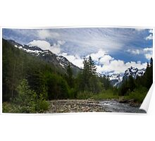 A Creek Flows Through the Mountains in Washington Poster
