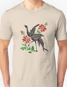Crane and Flowers T-Shirt