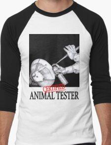 Certified Animal Tester Men's Baseball ¾ T-Shirt