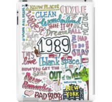 1989- Taylor Swift iPad Case/Skin