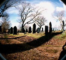 Fisheye in a Graveyard by Ian  James