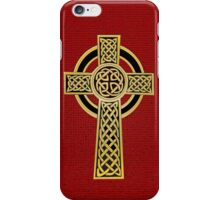 Celtic Cross, gold and red iPhone Case/Skin