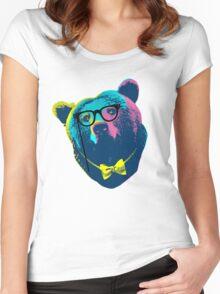 Pop Art I (Papa Bear) Women's Fitted Scoop T-Shirt
