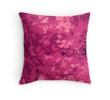 Hot Pink Camo Style Camouflage Pattern Design Throw Pillow