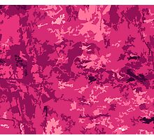Hot Pink Camo Style Camouflage Pattern Design Photographic Print