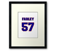 National football player Dale Farley jersey 57 Framed Print