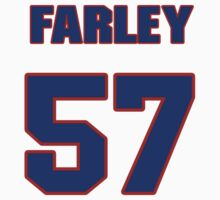 National football player Dale Farley jersey 57 by imsport