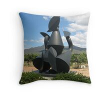Steel Sculpture  Throw Pillow