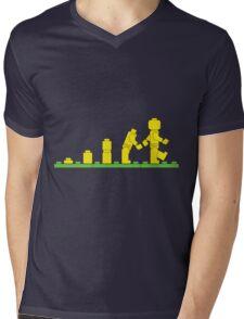 Build Block Walk of Evolution Mens V-Neck T-Shirt