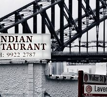 Urban Signs - Indian Restaurant by Sarah Moore