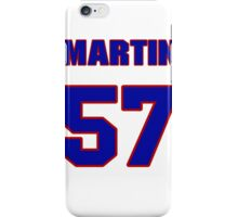 National football player Chris Martin jersey 57 iPhone Case/Skin