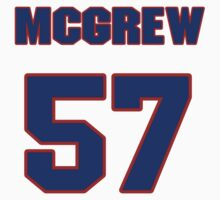 National football player Larry McGrew jersey 57 by imsport