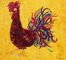Decolores Rooster by EloiseArt