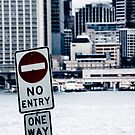 Urban Signs - No Entry by Sarah Moore