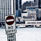 Urban Signs - No Entry by Sarah Moore