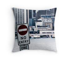 Urban Signs - No Entry Throw Pillow