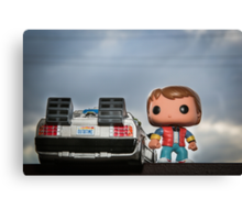 Outatime with Marty McFly Canvas Print