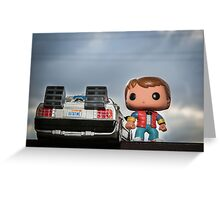 Outatime with Marty McFly Greeting Card