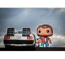 Outatime with Marty McFly Photographic Print