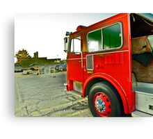 Fire Truck in HIGH DEF!! Canvas Print