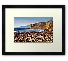 The Beach at Cambria Framed Print