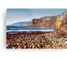 The Beach at Cambria Metal Print