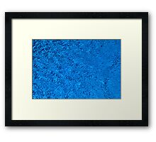 Blue Water - Color Movement and Reflection Framed Print