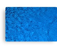 Blue Water - Color Movement and Reflection Canvas Print