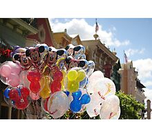 Disney Balloons  Photographic Print