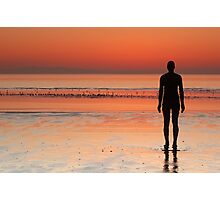 Iron man at sunset Photographic Print