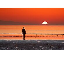 Iron man at sunset II Photographic Print