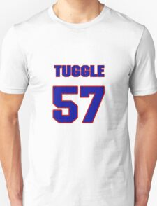 National football player Justin Tuggle jersey 57 T-Shirt