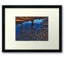 Tree Puddle Framed Print
