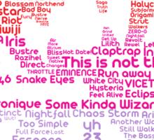 MONSTERCAT Typography  Sticker