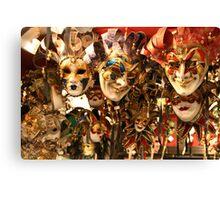 Masks in Venice Canvas Print