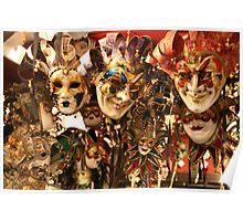 Masks in Venice Poster