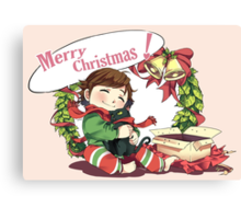 Merry Christmas from Hiccup and Toothless Canvas Print