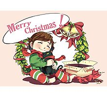 Merry Christmas from Hiccup and Toothless Photographic Print