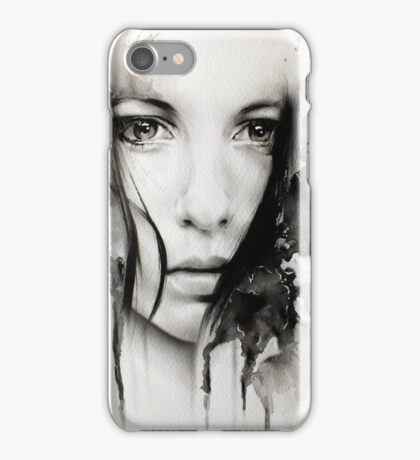 Realistic Girl Digital Art iPhone Case/Skin
