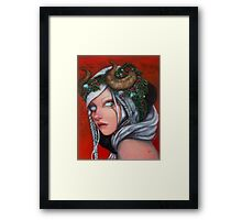 Hel Mother of Krampus  Framed Print