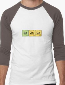 Ba Zn Ga! - periodic elements scrabble Men's Baseball ¾ T-Shirt