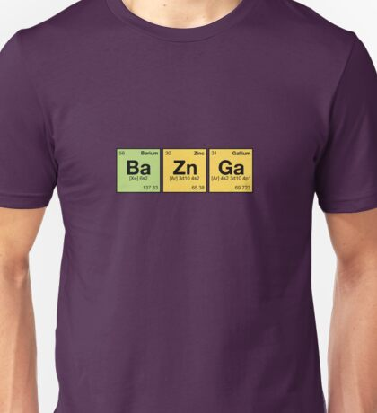 Ba Zn Ga! - periodic elements scrabble Unisex T-Shirt