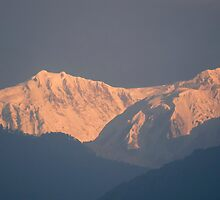 Kanchenjunga from Yoksum by Brent Olson