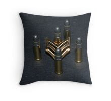 the sgts bullets Throw Pillow