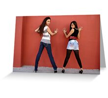 The Dynamic Duo, Chica and Itzel Greeting Card