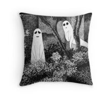 Ghosts wanting friends Throw Pillow