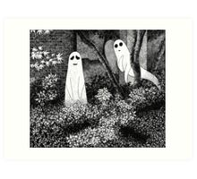 Ghosts wanting friends Art Print
