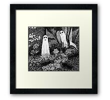 Ghosts wanting friends Framed Print